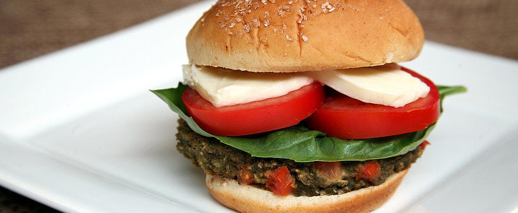Dairy-Free, 380-Calorie Caprese Veggie Burger