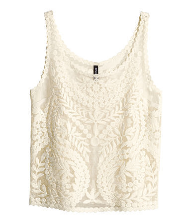 H&M Lace Tank Top ($30)