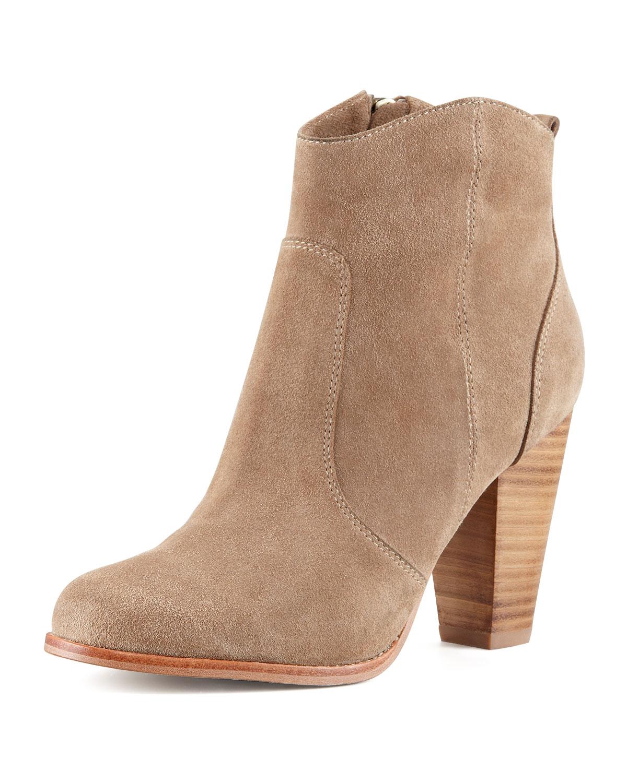 Joie Dalton Suede Stacked-Heel Bootie ($325)