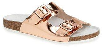 Topshop Metallic Slide Sandals