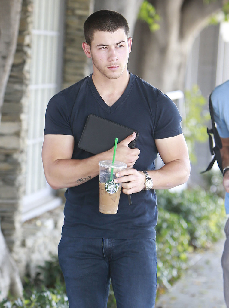 And then boom, his biceps were too big for his t-shirt sleeves in 2014.