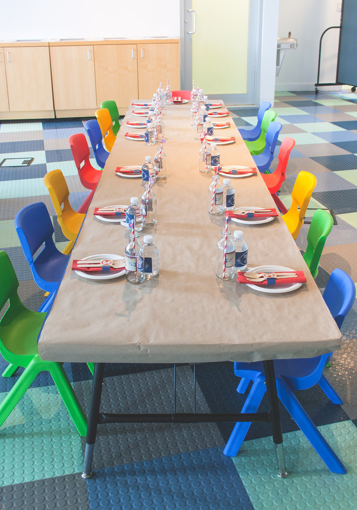 The bright and fun kids table proves you don't need to go overboard to make an impact. Source:  Clay Williams and Alex Nirenberg for Keren Precel Events
