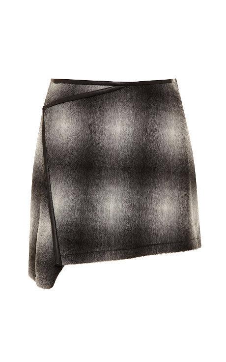 10 Crosby Derek Lam Plaid Asymmetric Skirt
