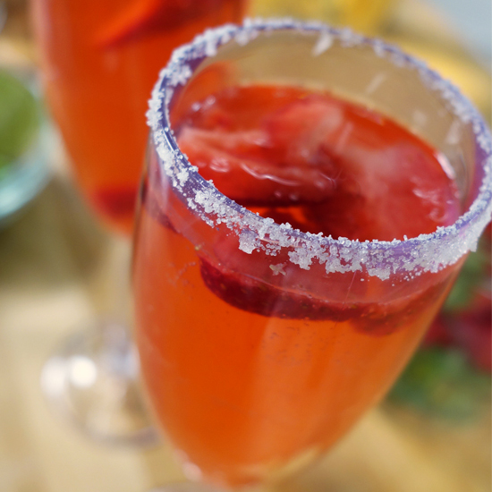 Strawberry-Rose Spritzer Recipes — Dishmaps