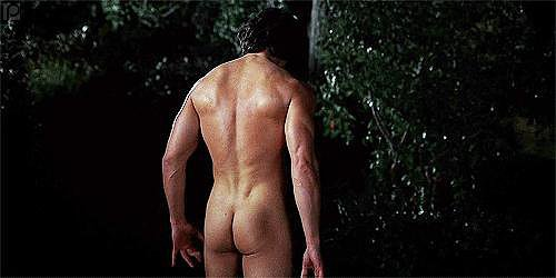 When He Is Completely Naked in the Forest