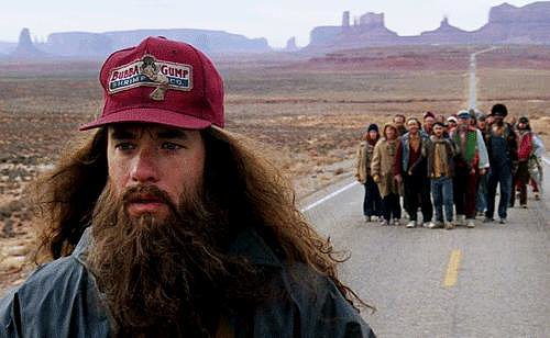 When Forrest's Beard Blows in the Breeze and He Decides to Turn Back