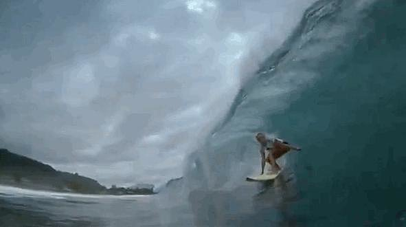 You actually thought you could handle this wave (without dying).