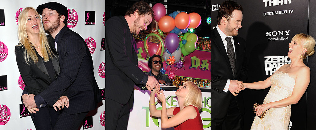 Anna Faris and Chris Pratt Are Anything but Boring on the Red Carpet
