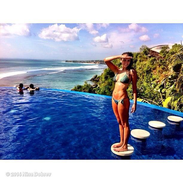 Nina Dobrev enjoyed vacation in her bikini. Source: Instagram user ninadobrev
