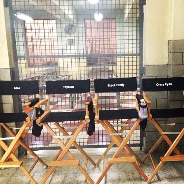 The chairs were all lined up and ready to be sat in for season three!