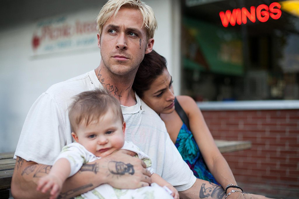 Real-life couple and costars Ryan and Eva sat with their little one in The Place Beyond the Pines — and now, of course, that's a reality! Here's to Ryan being one crazy-hot dad, right?