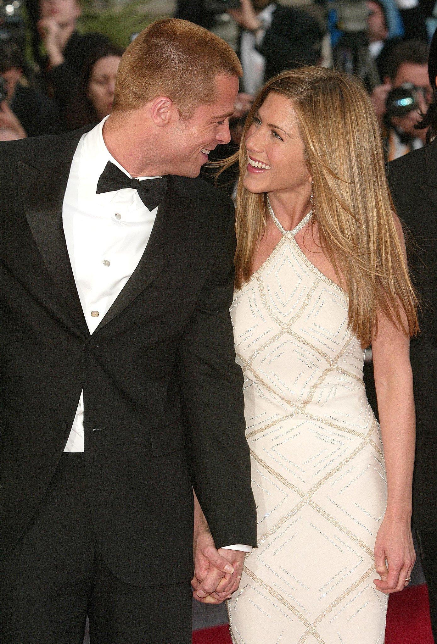 Brad Pitt and Jennifer Aniston were still together.