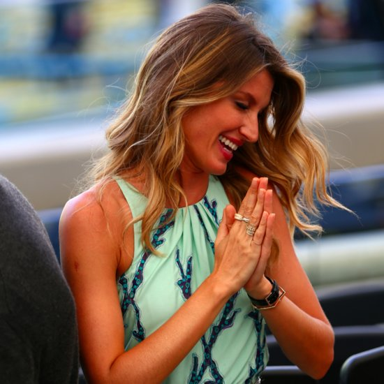 Gisele Bundchen and Tom Brady at the World Cup Final 2014