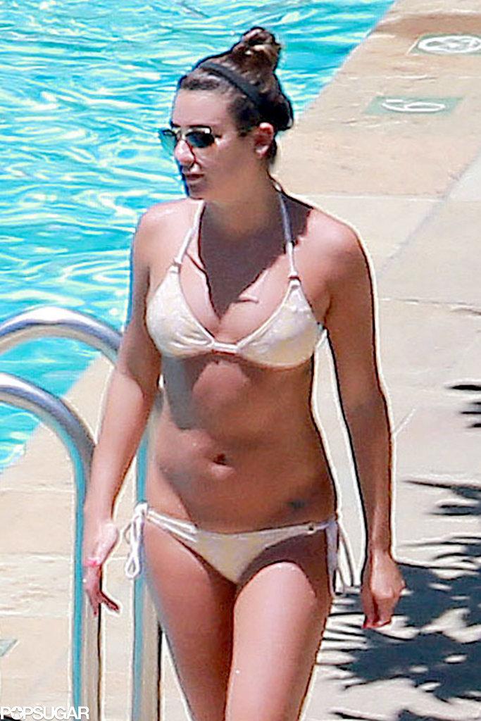 Lea michele wearing a bikini in santa barbara ca pictures