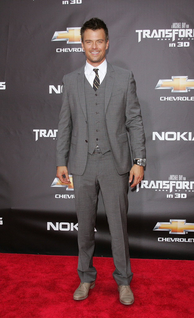 Josh suited up for the Transformers: Dark of the Moon premiere in NYC in June 2011.