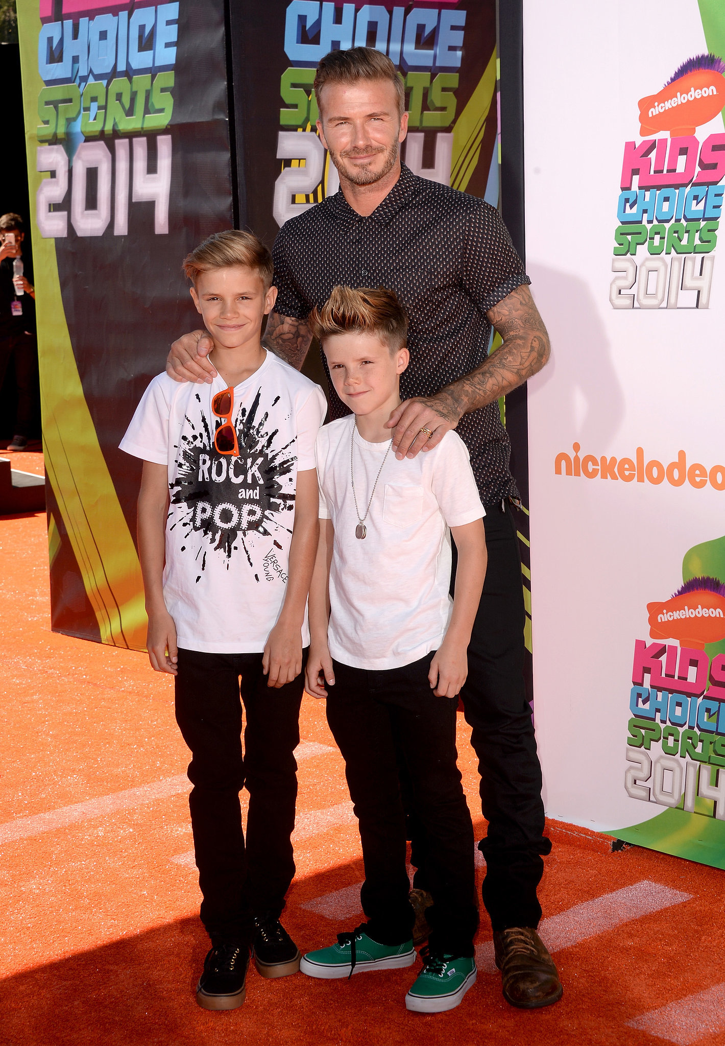 Here's What David Beckham and His Sons Would Look Like as Trophies