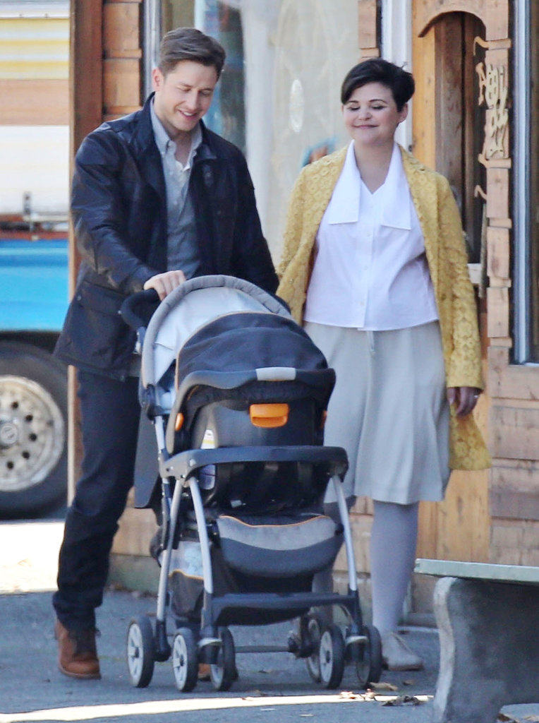 Ginnifer Goodwin and Josh Dallas filmed a scene for Once Upon a Time with their onscreen child, Prince Neal.