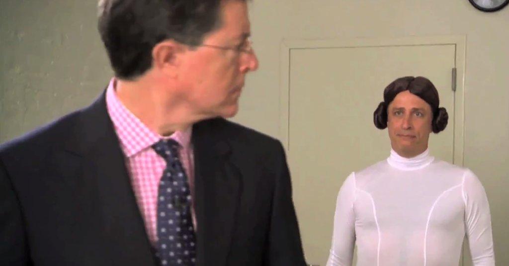 Jon Stewart and Stephen Colbert Have the Lightsaber Battle of the Century