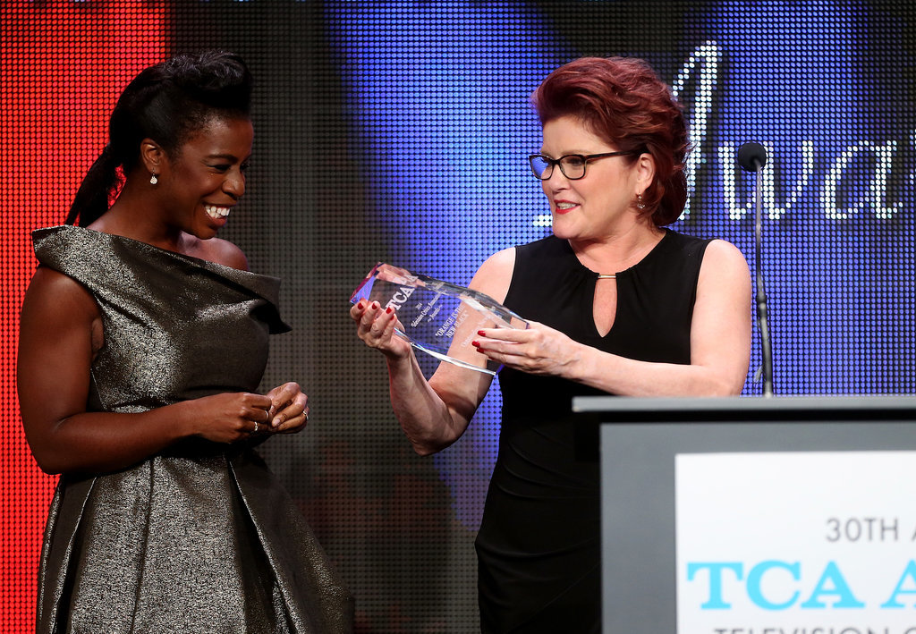 Uzo, aka Crazy Eyes, and Kate, who plays Red on OITNB, shared a happy moment.