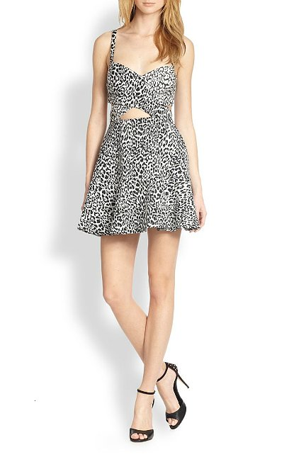 Bec & Bridge Leopard-Print Cutout Dress