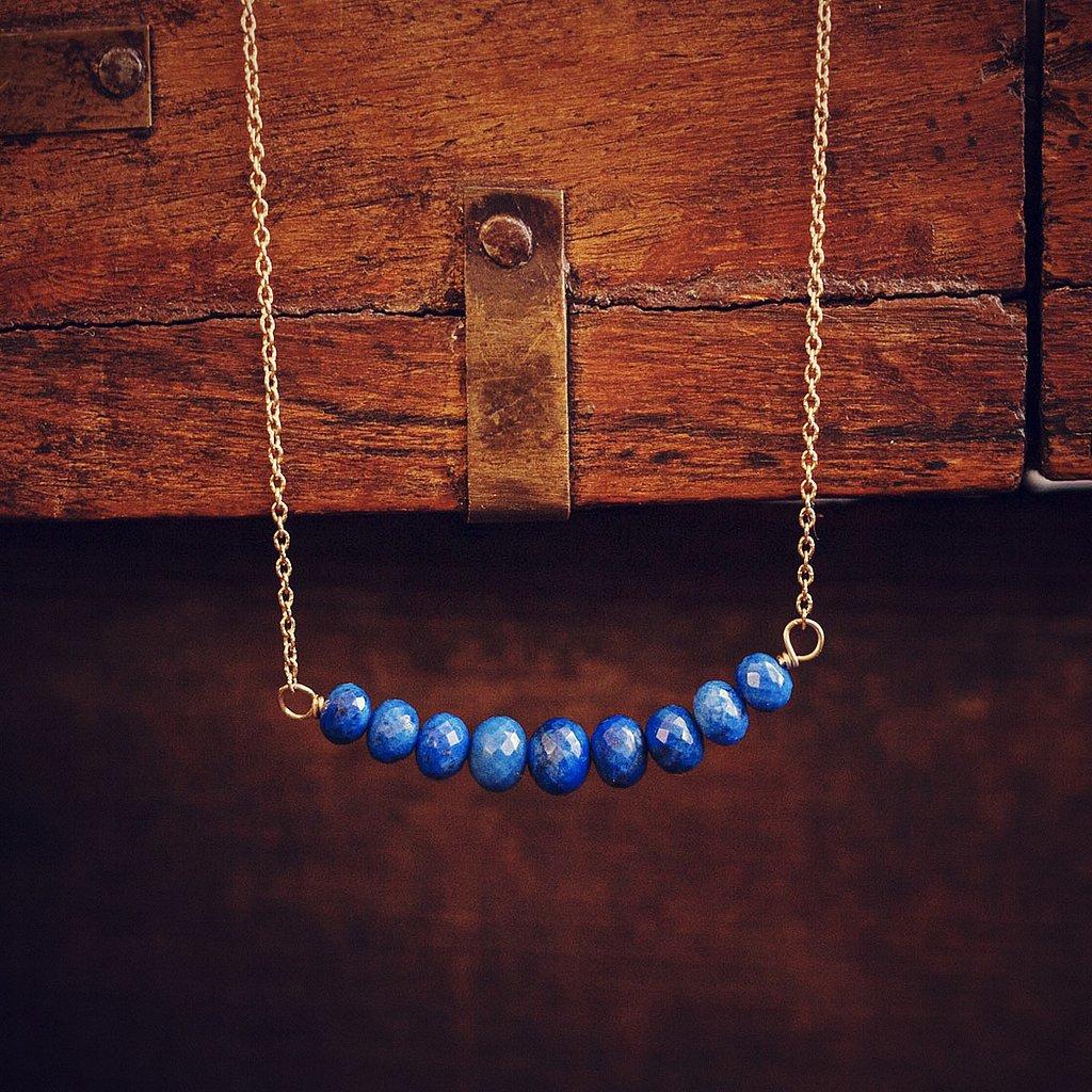 Lapis Bar Necklace