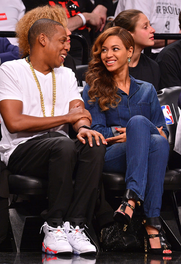 Look how they were lost in each other's eyes at a Brooklyn Nets game in May.