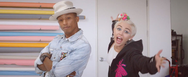 Miley Cyrus Goofs Around With Pharrell in a New Music Video