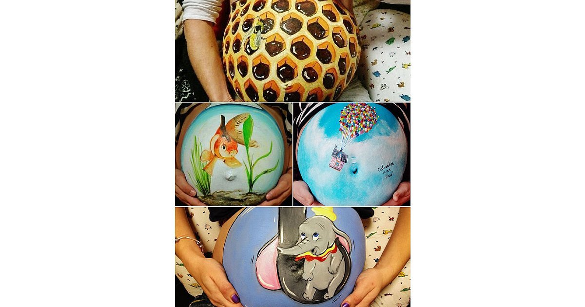 Create get creative with your burgeoning belly and paint for Creative things to do with paint
