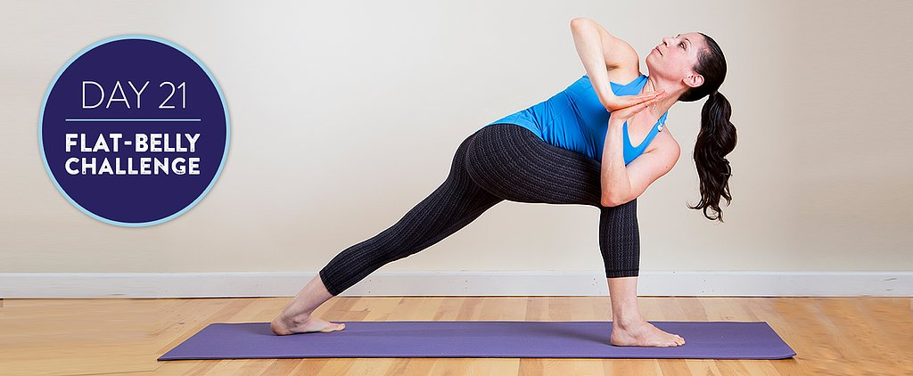 Flat-Belly Challenge Day 21: Fire-Building Yoga and a Protein-Packed Dinner