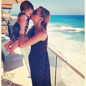 Rachel-Zoe-grabbed-seaside-smooch-from-her-little-one-Kaius-while