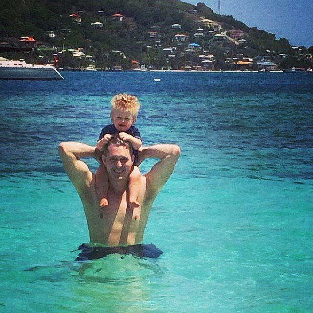 Noah and Michael Bublé enjoyed some vacation time on the beach. Source: Instagram user michaelbuble