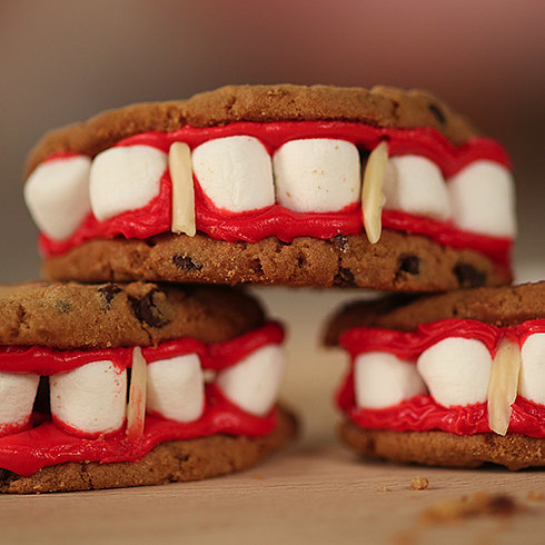 Fang Cookies Inspired by Vampire Diaries