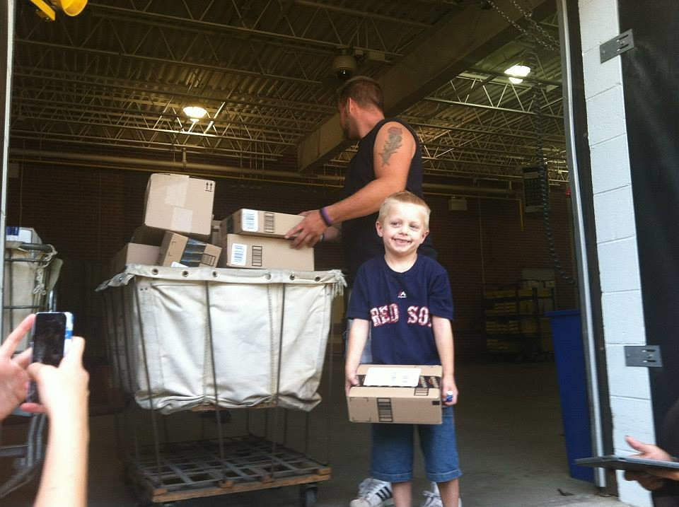 "And as of Wednesday, he had received thousands. ""Todays total rough count was a little over 8500 cards and 900 packages!!! We filled the uhaul completely up! And then filled 3 cars too!"" it said on his Facebook page. ""We are in awe of all of this, we are speechless and dont have enough words to explain how thankful we are for everyone of you! And all the love that you have shown us and continue to show us!"" Happy birthday, Danny! Source: Facebook user Danny's Warriors"