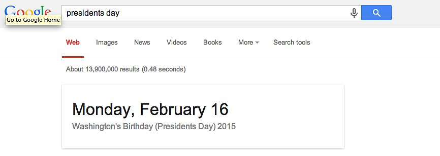 Remind you of the date of any holiday