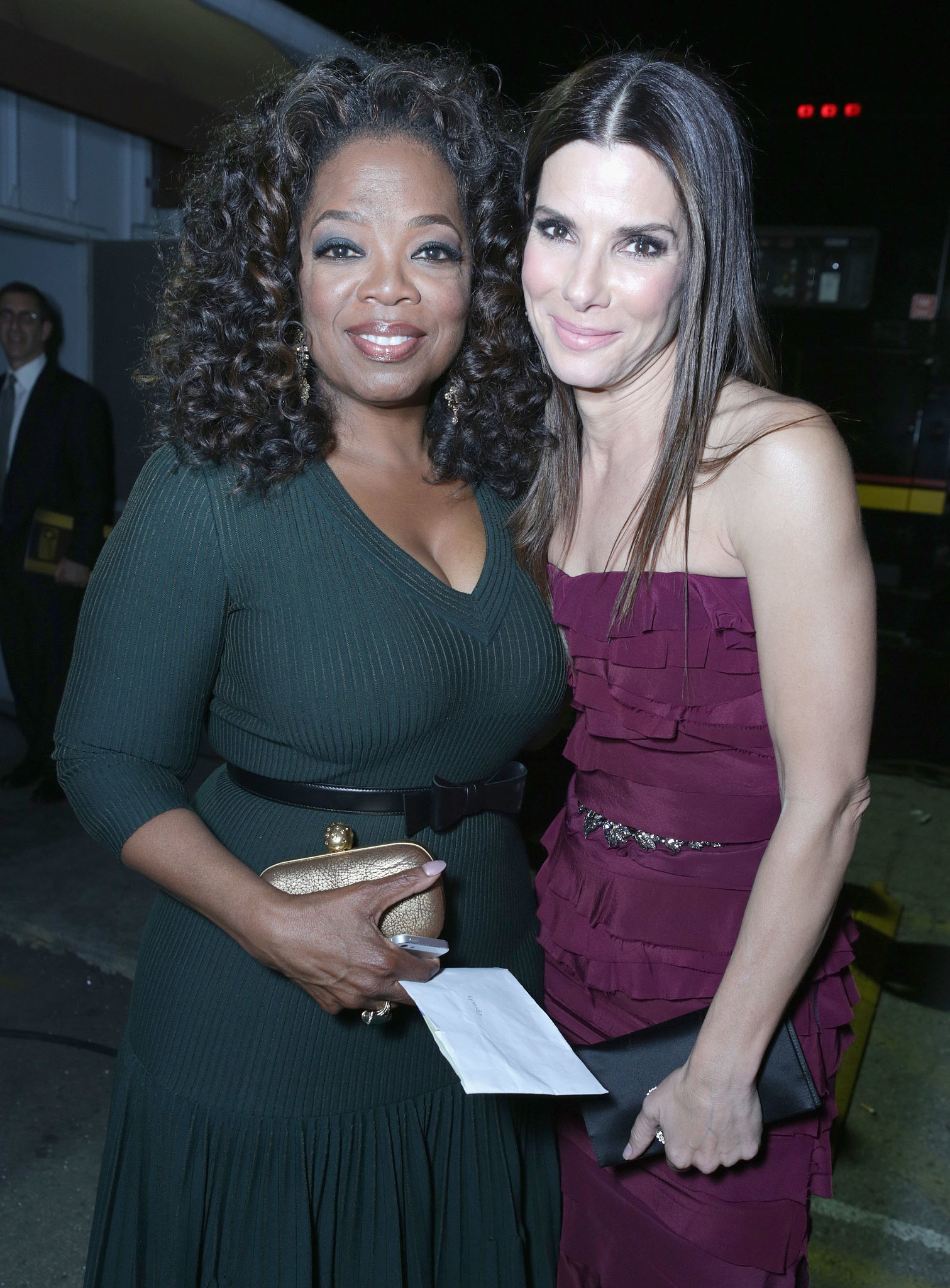 Sandra posed for a photo with Oprah Winfrey at the Critics' Choice Movie Awards in January 2014.
