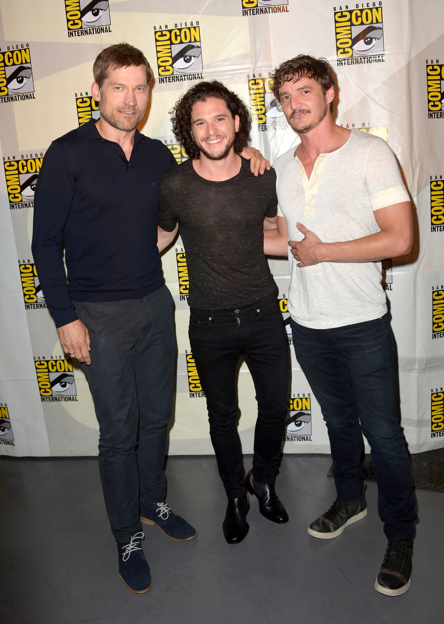 Photo of Nikolaj Coster-Waldau & his friend actor  Kit Harington - United States