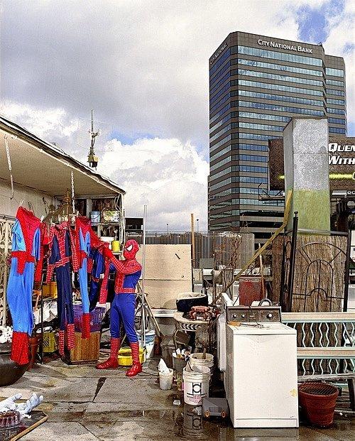 """Spiderman Hanging Laundry,"" Gregg Segal"