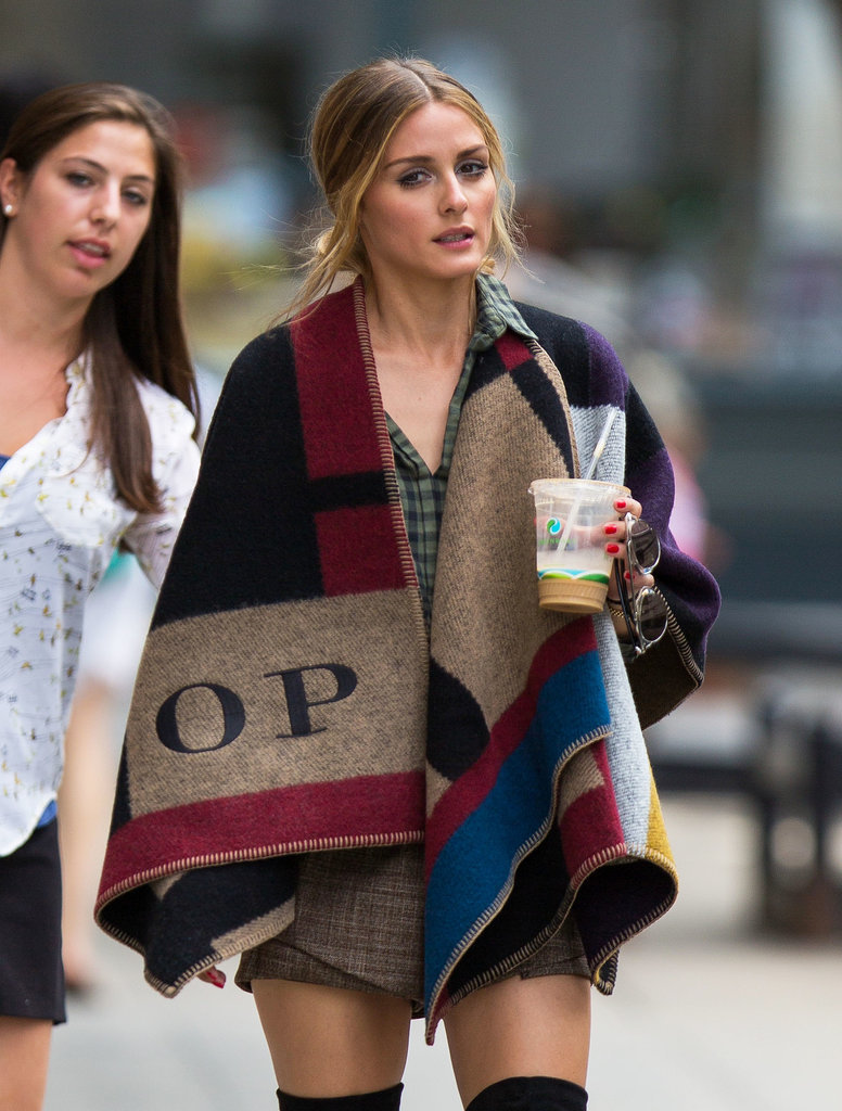 Olivia got her own monogrammed piece while running errands between takes on a photo shoot in NYC.