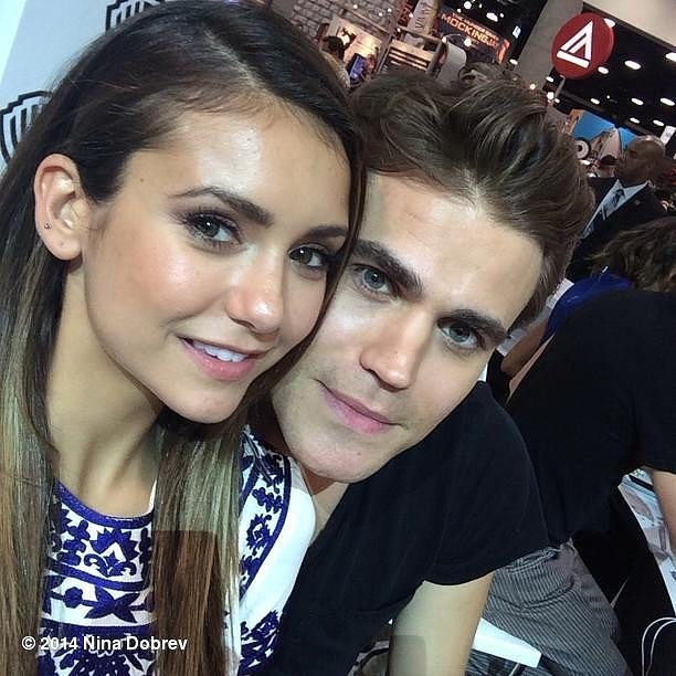 She took this photo with her Vampire Diaries costar Paul Wesley, so maybe she's dating Paul Wesley?
