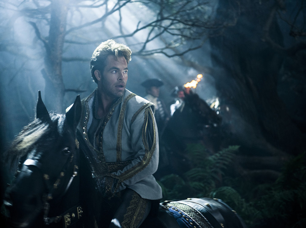 Chris Pine as Cinderella's Prince.