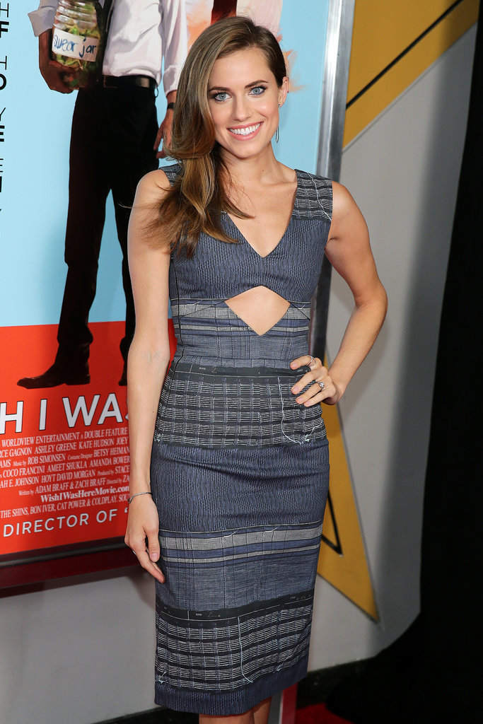 We loved Allison's Altuzarra midriff cutout dress as a subtle way to show a hint of skin.