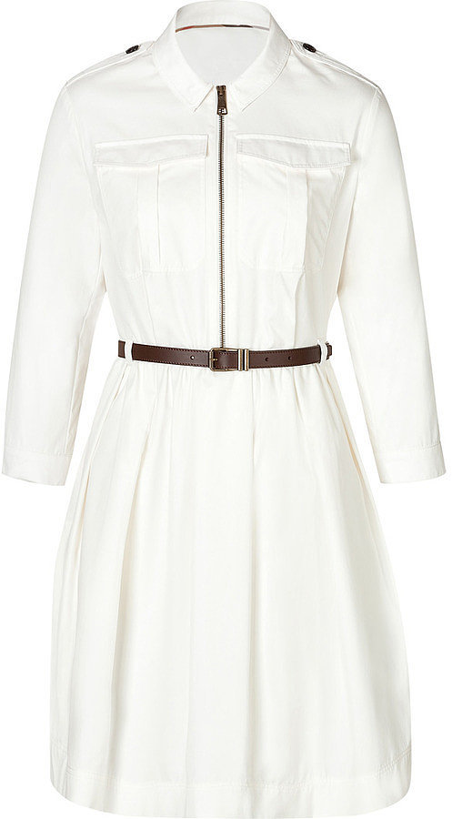 Burberry White Shirtdress