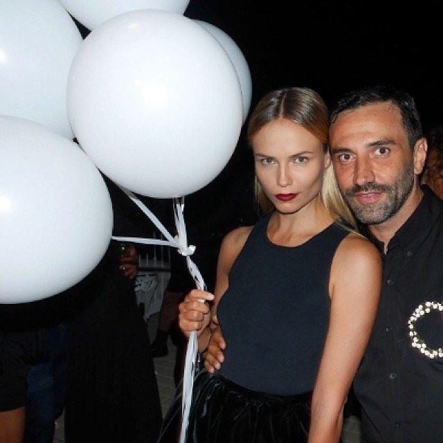 Natasha Poly and Riccardo Tisci