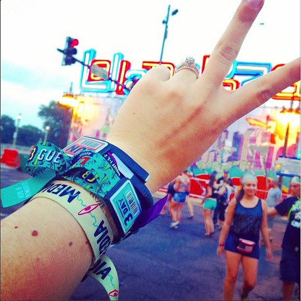 The arm party had to end sometime. Peace out, Lollapalooza.  Source: Instagram user kateschweitzer