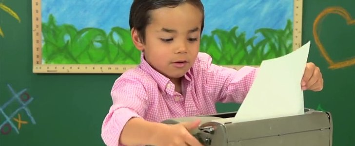 "Kids React to Typewriters: ""That's Horrible!"""