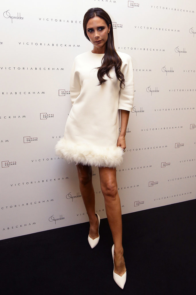 Victoria Beckham's Fur-Trimmed Dress