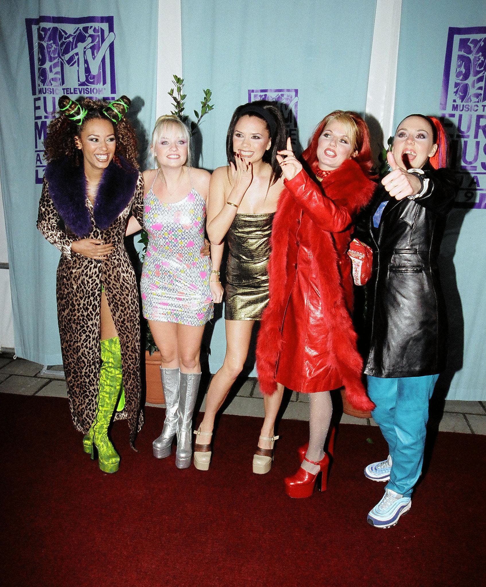 Victoria Beckham's Spice Girls Costumes