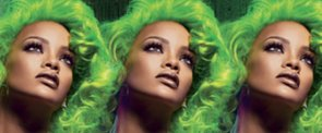 Rihanna Goes Blonde (and Topless!) For Her Mac Viva Glam Ad