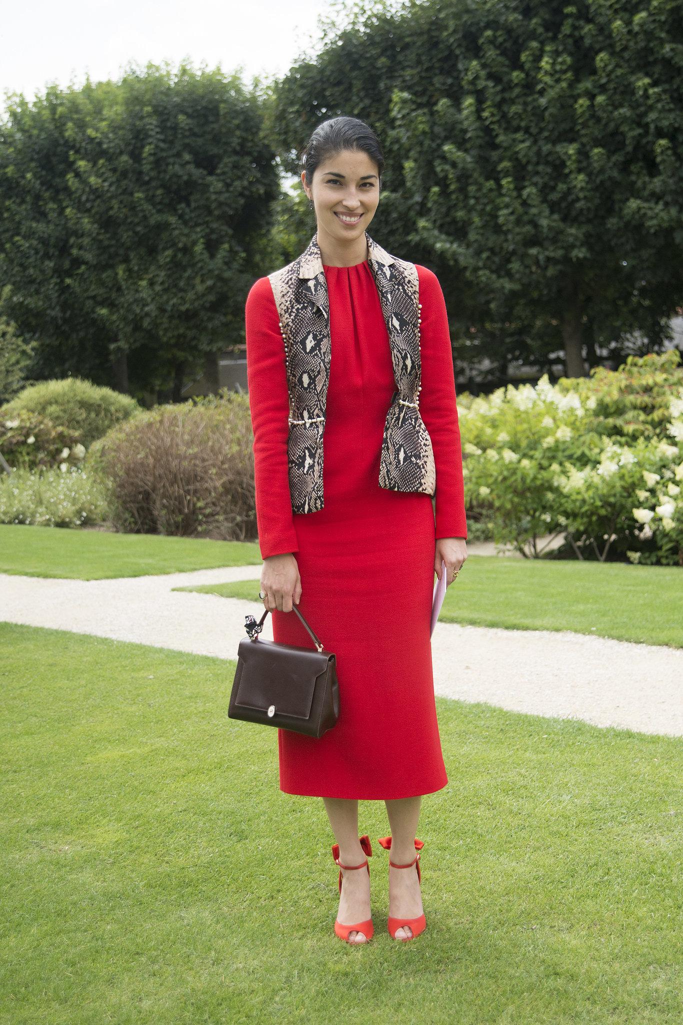 Caroline Issa at Fall 2014 Paris Haute Couture Fashion Week