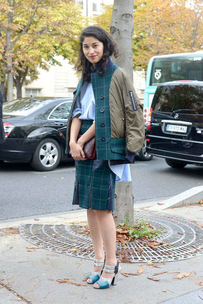 Caroline Issa at Spring 2014 Paris Fashion Week